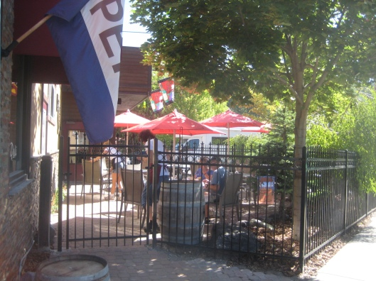 One of my favorite downtown lunch spots the Wine Cellar Cafe & Deli.  The patio is called Paul's Wine Grotto and Beer Garden.